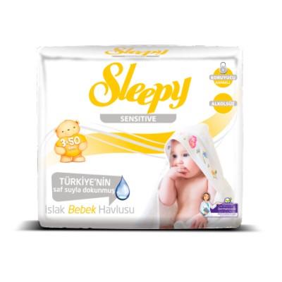 Set Servetele umede SLEEPY 50 Sensitive x3
