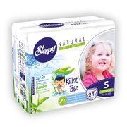 Scutece Chilotel Sleepy Natural Ultra Sensitive 5 Junior , 11-18kg, 24 bucati + Cadou Servetele
