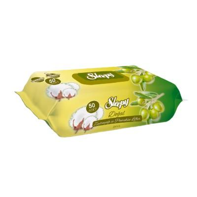 Servetele umede SLEEPY 50 Bumbac cu ulei de Masline