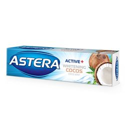 Pasta de dinti ASTERA ACTIV + WHITENIG COCOS 100ml
