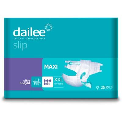Scutece Adulti DAILEE Slip Premium Maxi 7.5 Picaturi, XXL 120-180 cm, 28 bucati