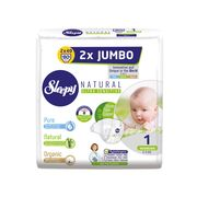 Scutece Sleepy Natural Ultra Sensitive Double Marime 1 Newborn , 2-5kg, 80 bucati