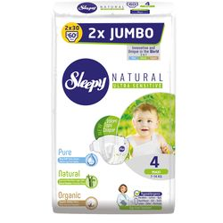 Подгузники Sleepy Natural Ultra Sensitive Double 4 Maxi , 7-14кг, 60 штук