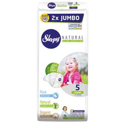 Scutece Sleepy Natural Ultra Sensitive Double Marime 5 Junior , 11-18kg, 48 bucati
