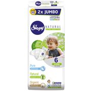 Подгузники Sleepy Natural Ultra Sensitive Double 6 XLarge , 15-25кг, 40 штук