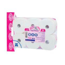 Hirtie igienica PERFETTO Maxi Pink 6 role,3 straturi, 205 foi