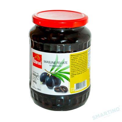 Măsline negre feliate ETHRAS 680gr.