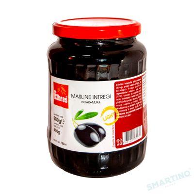 Măsline negre intregi ETHRAS 680gr.