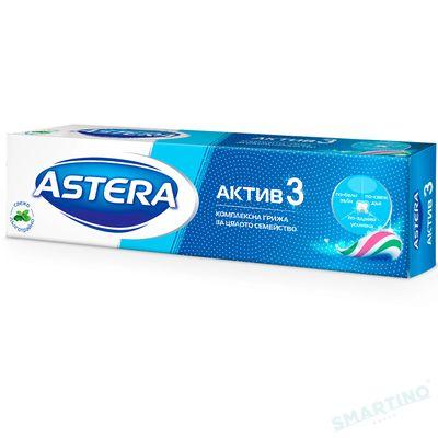Pasta de dinti ASTERA ACTIV +  Active 3 Fresh Mint 100ml