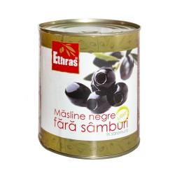 Măsline negre fara simburi ETHRAS 800gr.
