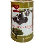 Măsline negre fara simburi ETHRAS 4300gr.