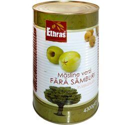 Зеленые оливки без косточки ETHRAS 4300гр.