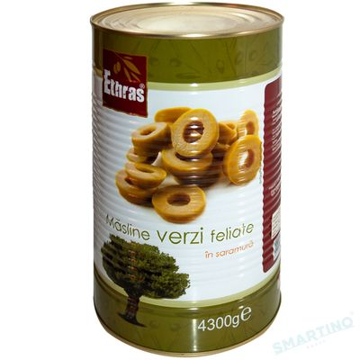 Măsline verzi feliate ETHRAS 4300gr.
