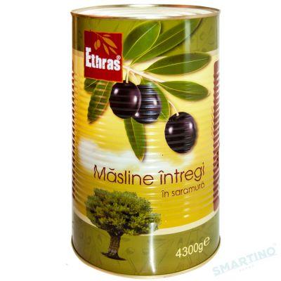 Măsline negre intregi ETHRAS 4300gr.