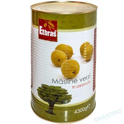 Măsline verzi intregi ETHRAS 4300gr.
