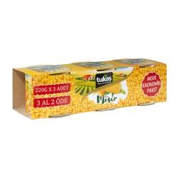 Porumb dulce boabe TUKAS 3x220 gr.