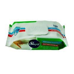 Влажные салфетки SLEEPY 100шт Антибактериальные пластиковая крышка
