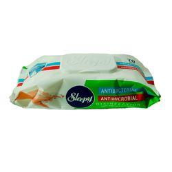 Влажные салфетки SLEEPY 70шт Антибактериальные пластиковая крышка