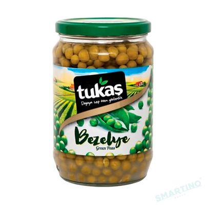 Mazare verde boabe in borcan TUKAS 680 gr.