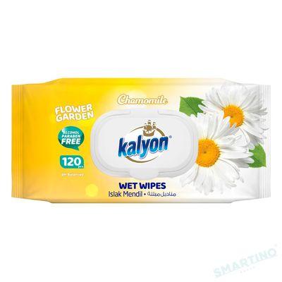Servetele umede KALYON 120 Chamomile cu capac