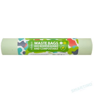 Saci menajeri Biodeck, 140L, 100% Biodegradabili si Compostabili, 5 buc/rola