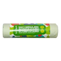Saci menajeri Biodeck, 35L, 100% Biodegradabili si Compostabili, 10 buc/rola