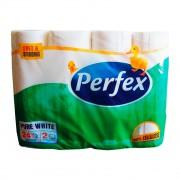 Hirtie igienica PERFEX  BONI 24 role,2 straturi, 107 foi