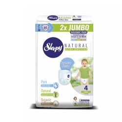 Scutece Chilotel Sleepy Natural Ultra Sensitive DOUBLE 4 Maxi, 7-14kg, 60 bucati