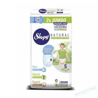 Scutece Chilotel Sleepy Natural Ultra Sensitive DOUBLE 5 Junior , 11-18kg, 48 bucati