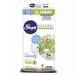 Scutece Chilotel Sleepy Natural Ultra Sensitive DOUBLE 5+ Junior Plus, 13-20kg, 44 bucati