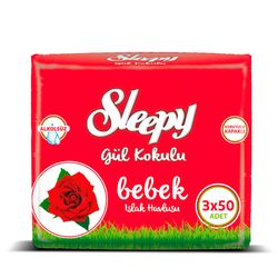 Set Servetele umede SLEEPY 50 Rose x3