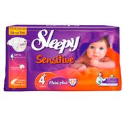 Scutece Sleepy Sensitive Hipoalergenic  4+ Jumbo Maxi Plus