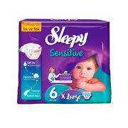 Scutece Sleepy Sensitive Hipoalergenic 6 Jumbo X Large