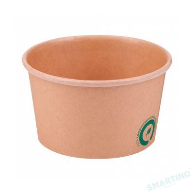 Bol supa cu capac de unica folosinta, 480 ml, 100% Biodegradabile, 25 buc/set, din Trestie de zahar