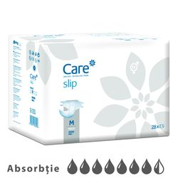 Подгузники для взрослых CARE Slip Plus 7.5 кап. M 80 - 135 см, 28 шт