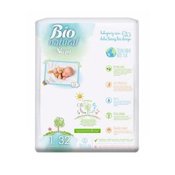 Scutece Sleepy Bio Natural Marime 1 Newborn , 2-5kg, 32 bucati