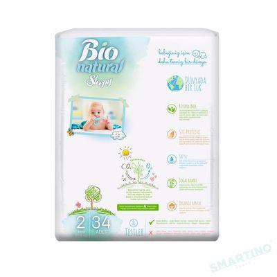 Scutece Sleepy Bio Natural Marime 2 Mini , 3-6kg, 34 bucati