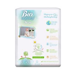 Scutece Sleepy Bio Natural Marime 5 Junior, 11-20kg, 20 bucati