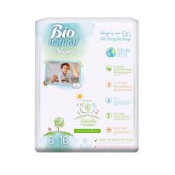 Scutece Sleepy Bio Natural Marime 6 XLarge, 15-27kg, 16 bucati