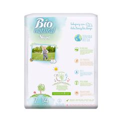 Scutece Sleepy Bio Natural Marime 7 XXLarge, 20-30kg, 14 bucati