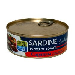 "Sardine in sos de tomate 240gr.""Smartino"" Cu Cheie"