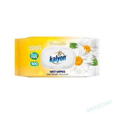 Servetele umede KALYON 100 Chamomile cu capac