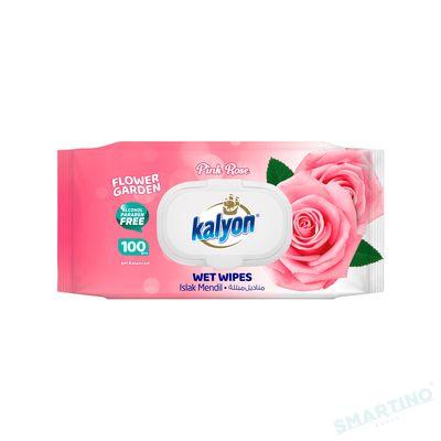 Servetele umede KALYON 100 Rose cu capac