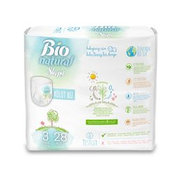 Scutece Chilotel Sleepy Bio Natural 3 Midi 4-10kg, 28 bucati