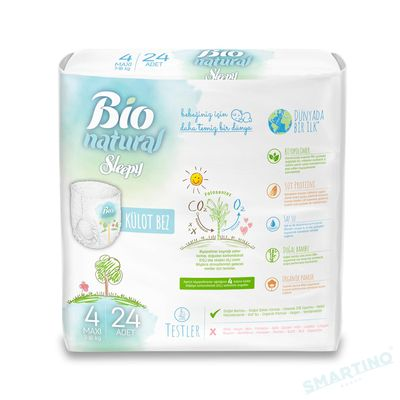 Scutece Chilotel Sleepy Bio Natural 4 Maxi 7-16kg, 24 bucati