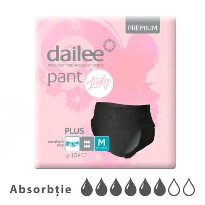 Scutece Chilot Adult DAILEE Premium Lady 6 Pic. M 80-120 cm,  15 buc.