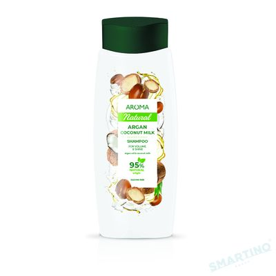 Șampon pentru păr AROMA NATURAL Argan și cocos 400 ml