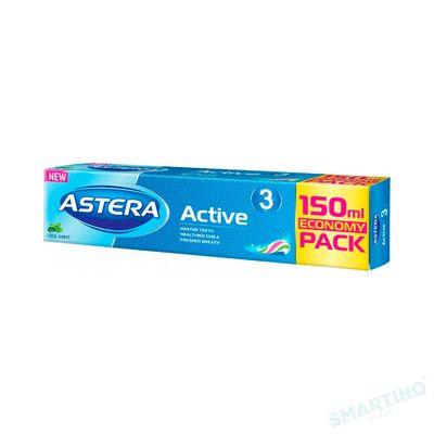Pasta de dinti ASTERA ACTIV + Active 3 150ml