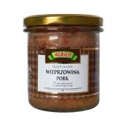 Carne de porc AGRICO în suc propriu 89% - 300gr