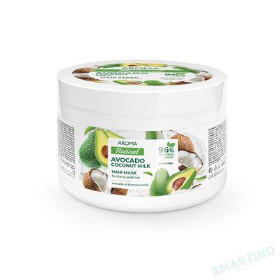 Mască de păr AROMA NATURAL Avocado și lapte de cocos 450 ml